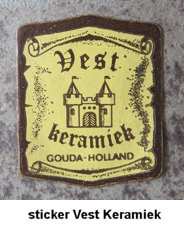 sticker Vest Keramiek Gouda Holland